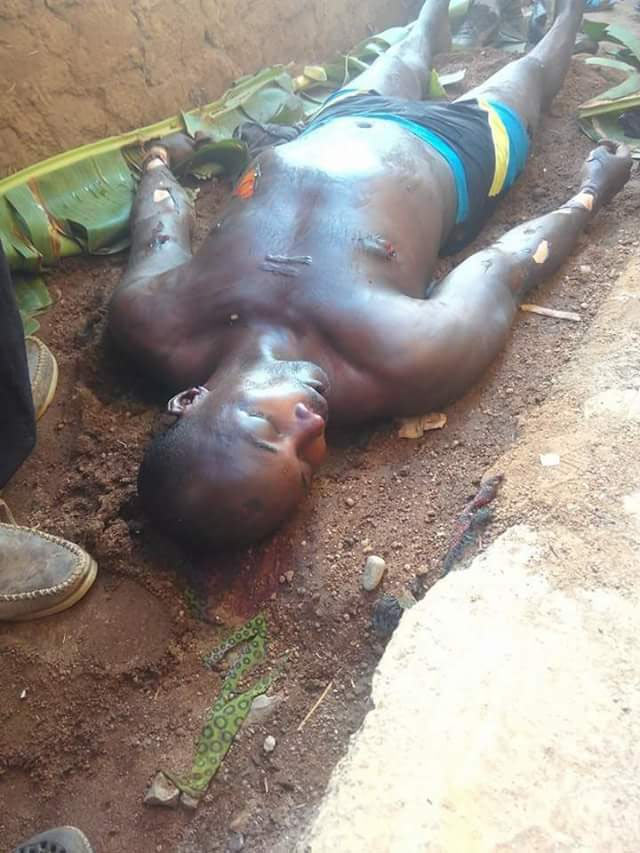 Very graphic: Man butchered by Fulani herdsmen in Southern Kaduna