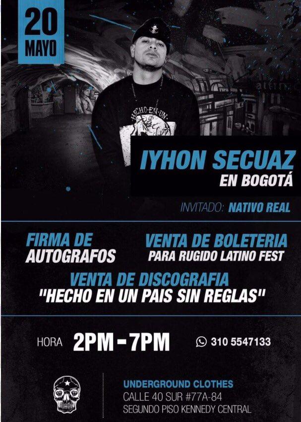 Firma de autografos de Iyhon Secuaz en Bogota   20 Mayo 2017