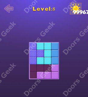 Cheats, Solutions, Walkthrough for Move Blocks Easy Level 8