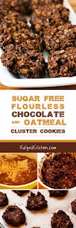 Sugar-Free and Flourless Chocolate and Oatmeal Cluster Cookies found on KalynsKitchen.com