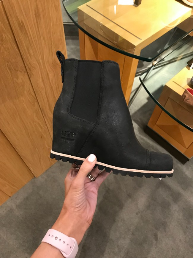 d00c5a10e016 UGG PAX Waterproof Wedge Boot. Color  Chipmunk Leather. These boots really  reminded me of Sorel boots when I saw them. They fit true to size and they  have a ...