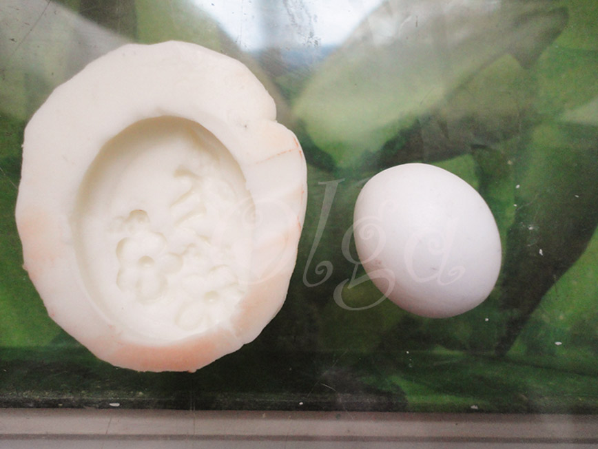 como hacer un camafeo de fimo de un molde-silicone mould cameo poly clay