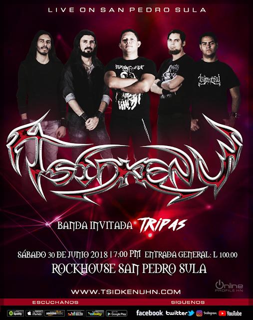 Cartel de Concierto con Tsidkenu en San Pedro Sula