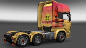Iron Maiden Scania Skin by Q.R.A Pé Grande