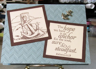 Our Daily Bread designs Anchor, ODBD Customer Card of the Day by Sharon Madson