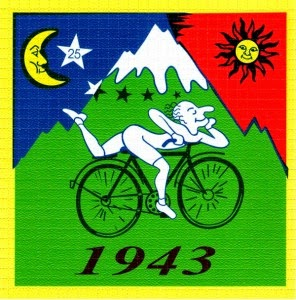 albert hofmann 1943 bicycle ride blotter art