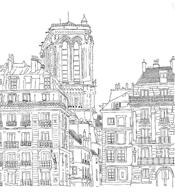 coloriage ville de paris