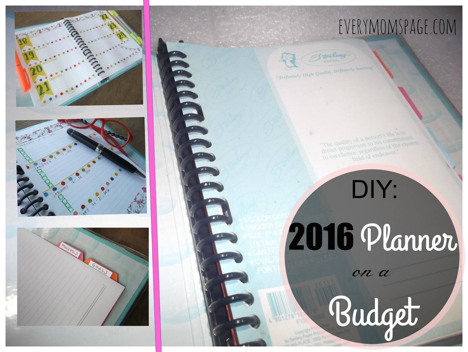 DIY: Spiral Notebook, 2016 Planner on A Budget