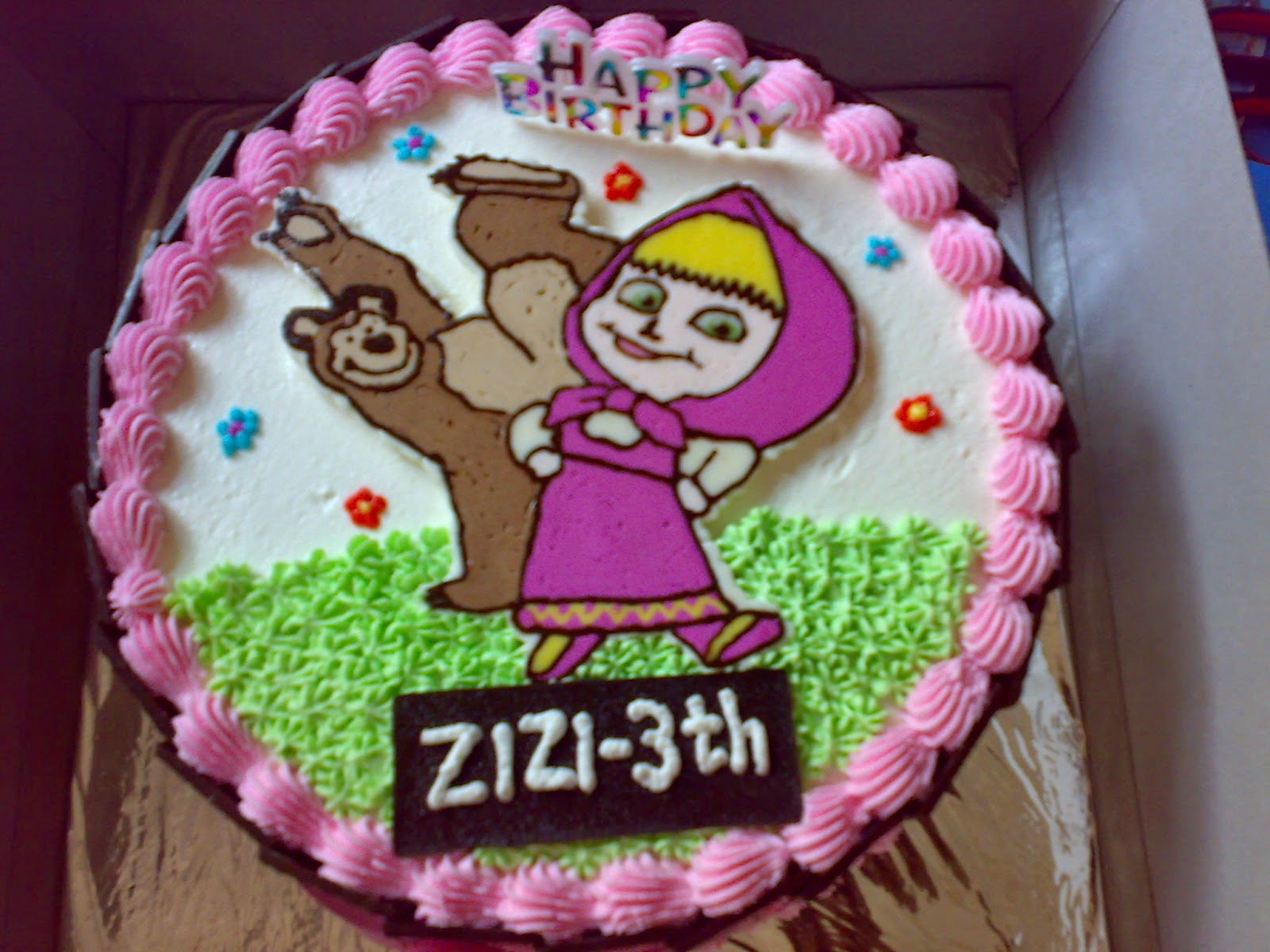 kue ulang tahun masha dan beruang