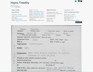 death certificate for Timothy J Hayes