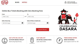 redbus account opening for online bus ticket booking