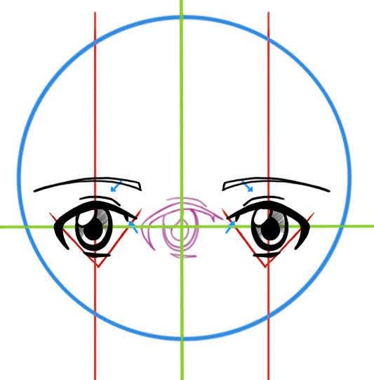 Dessiner les yeux de face d'un manga
