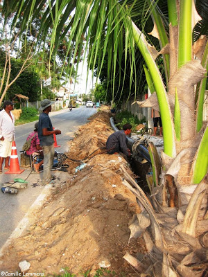 New water main pipes on Koh Samui