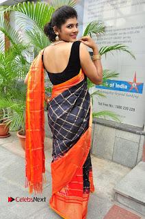 Model Sangeeta Kamath Pictures in Saree at Silk India Expo Curtain Raiser  0082.JPG