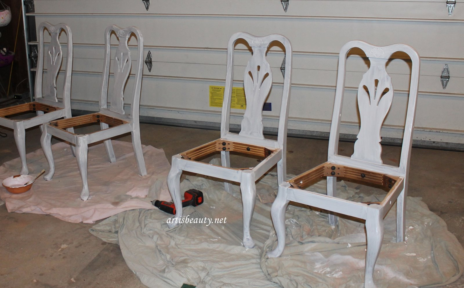 Chalk Paint Dining Room Set: ART IS BEAUTY: Homemade Chalk Paint Dining Set