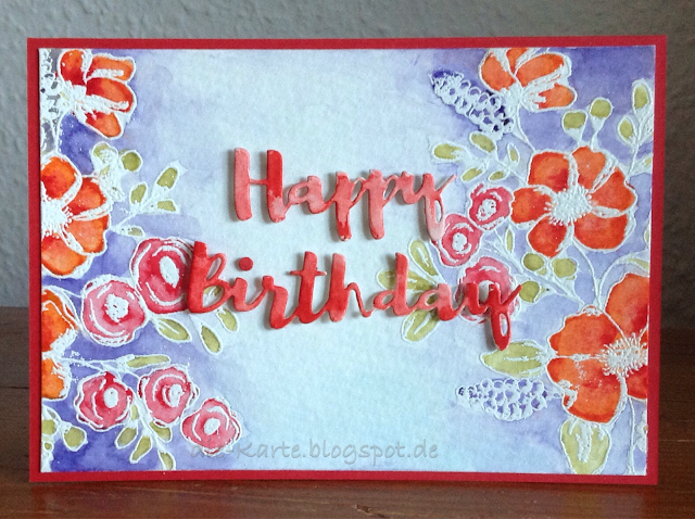 """Fresh Flowers"" Christine Adolph, ""Happy Birthday"" Gummiapan"