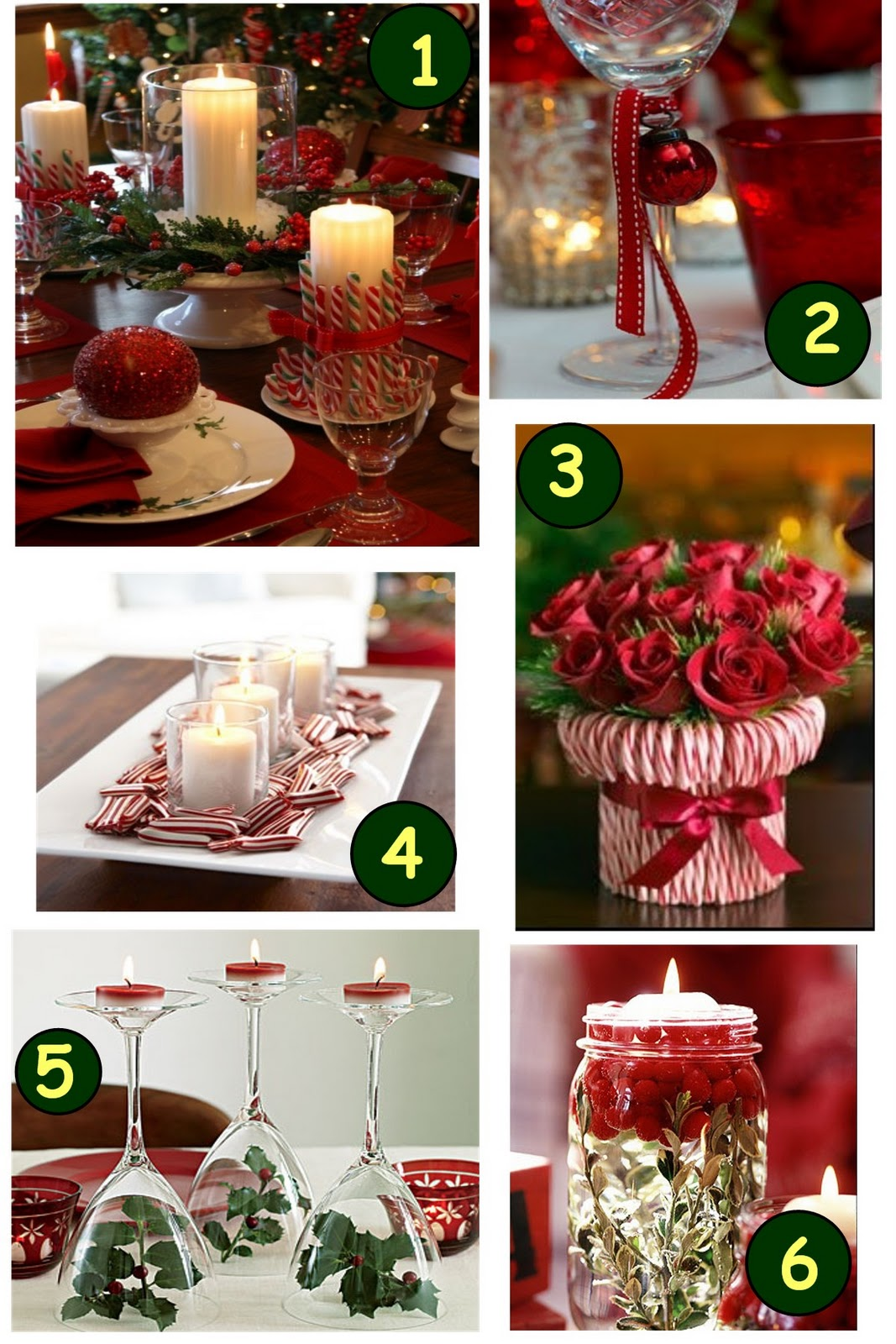 are some great Christmas decor ideas for your Christmas Dinner Table