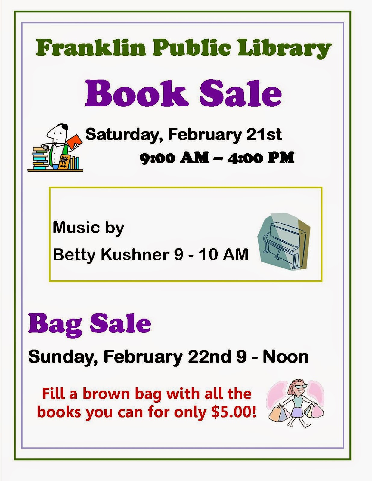 Library Book Sale - Feb 21 - 22