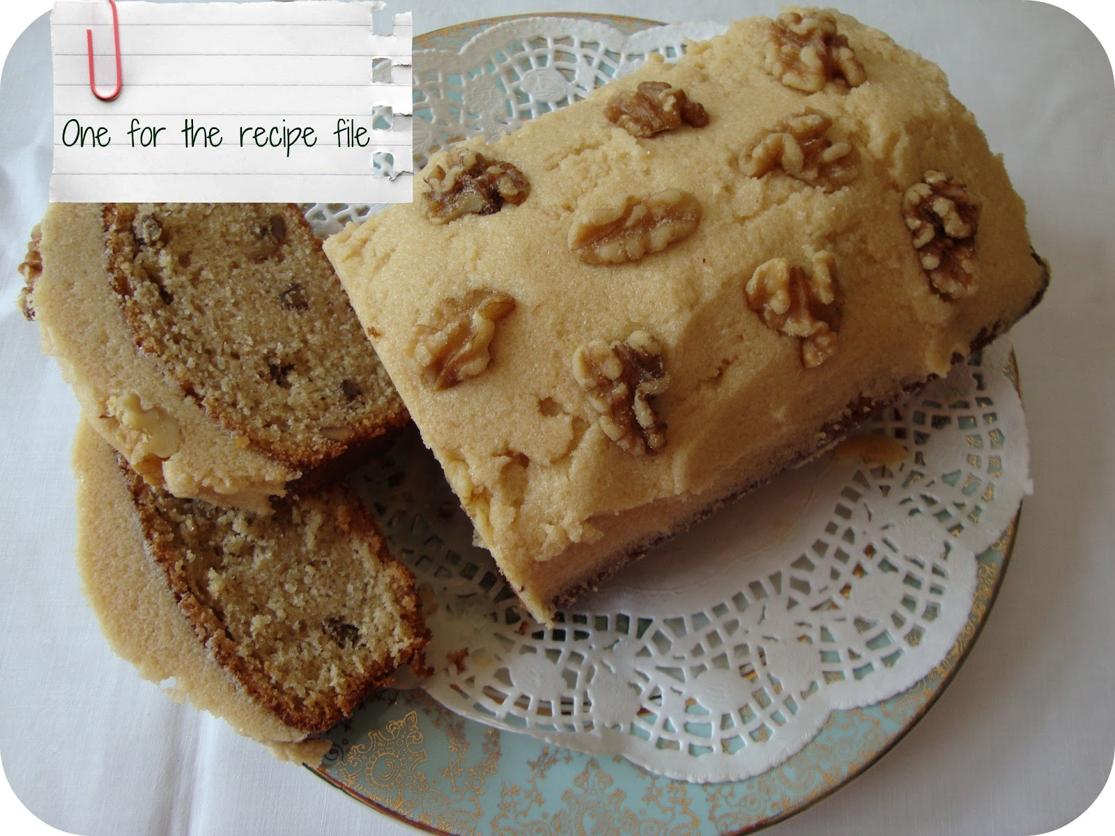 Cake And Loaf Recipes: Miss Beatrix: Quick And Easy Coffee & Walnut Cake