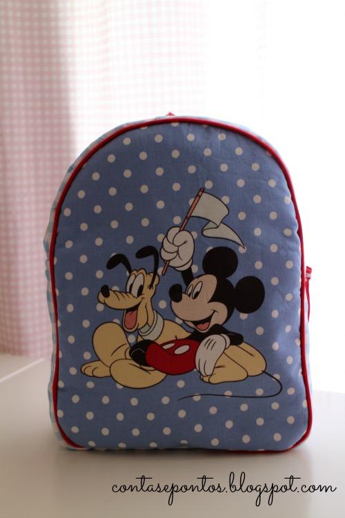 Mochila Mickey em tecido