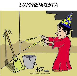Giuseppe conte, primo ministro, esperienza, politica, vignetta, satira