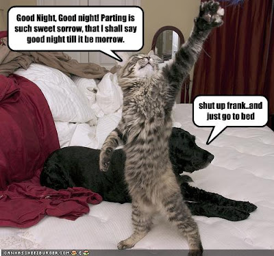funny good night parting is such sweet sorrow