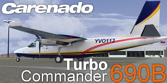 690B TURBOCOMMANDER CARENADO (SOLO TEXTURA FSX) YVO112 | Article