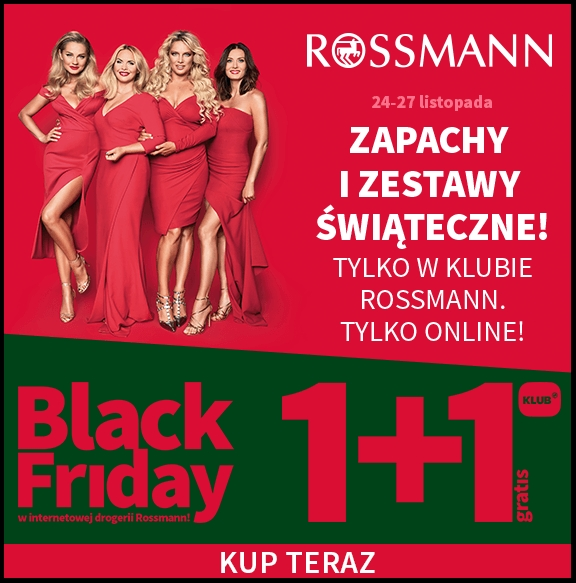 Black Friday w klubie Rossmann - 1+1 na zapachy, zestawy świąteczne. Tylko Online.