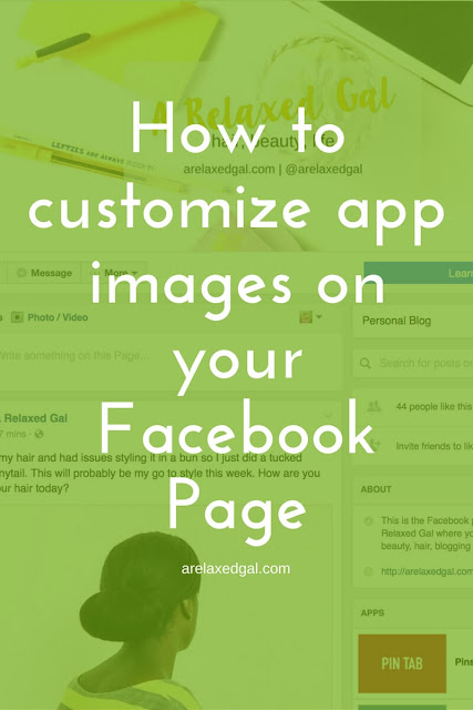 Customize your business or blog Facebook Page by adding customized icon images with these 10 easy steps. | arelaxedgal.com
