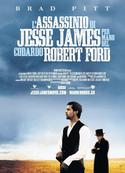 Poster Of The Assassination of Jesse James by the Coward Robert Ford 2007 Hindi 720p BRRip Dual Audio