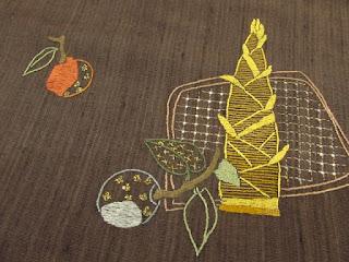 筍と林檎の名古屋帯