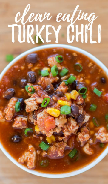 CLEAN EATING TURKEY CHILI RECIPE