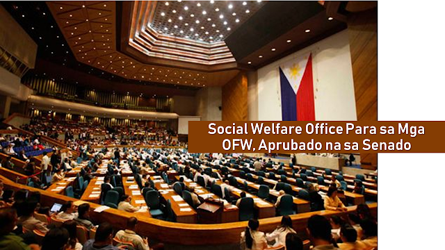 "The Senate has ratified the bill that would create offices for social welfare attachés for overseas Filipino workers (OFWs).  The Upper Chamber adopted the House Bill 8908 as an amendment to Senate Bill 1819, or the proposed ""Act Establishing the Office for Social Welfare Attaché"" just before adjourning for the midterm elections.       Ads  The Congress approved its version of the measure on February 4, while the Senate passed its version on October 1, 2018.  The adoption dispenses the need for a bicameral conference committee, thus the subsequent ratification of the bill. The measure would then be transmitted to the Palace for the President's approval. Villanueva had said that the measure if signed into law, would institutionalize social welfare attachés as a permanent component of Philippine foreign posts in countries or jurisdictions to address the incidence of suicides and cases of abuse against OFWs.  It amends part of the Republic Act 8042, or the Migrant Workers Act of 1995 so that the government shall provide appropriate and timely social, economic, and legal services to OFWs, especially those who are experiencing any sorts of abuse.  Villanueva said countries with a high concentration of Filipino migrant workers, especially in the Middle East, shall be prioritized by the proposed law.  ""We believe that having permanent social welfare attachés in our embassies can help prevent incidents of suicide and cases of abuse against our modern-day heroes,"" he said.   The Social Welfare Attaché bill would also ensure the deployment of social welfare attaché officers by the Department of Social Welfare and Development (DSWD) to manage cases of distressed OFWs and ensure coordination among agencies and various groups to address the psychosocial needs of distressed OFWs.  The social welfare attaché shall be tasked to establish and maintain a data bank and documentation of OFWs and their families so that appropriate social welfare services can be more effectively provided.  Villanueva earlier said that there are about 10 million Filipinos in more than 170 countries and around 2.3 million of them are migrant workers. While there are only eight social welfare attachés deployed in several parts of the world as of May 2018."