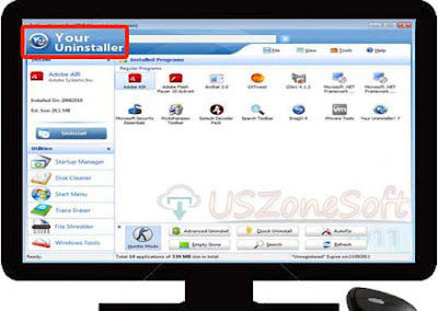 Your Uninstaller completely windows uninstaller program with facility of registry cleaner, fix error installation, disk cleaner, windows manager, file shredder, startup manager and trace eraser etc. Here Your Uninstaller trial version free download