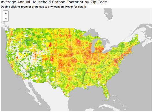 Carbon Footprint Maps by Zip Code