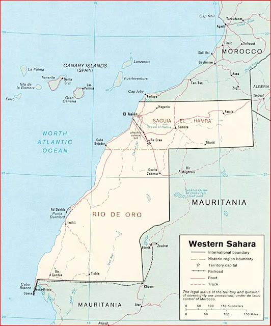 Gambar Peta politik Sahara Barat