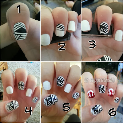 Copycat Nails: Halloween mummy and blood nails
