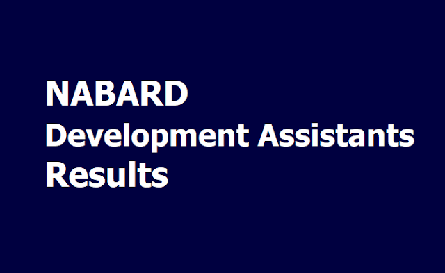 NABARD Development Assistants Results 2019 (Preliminary Exam)