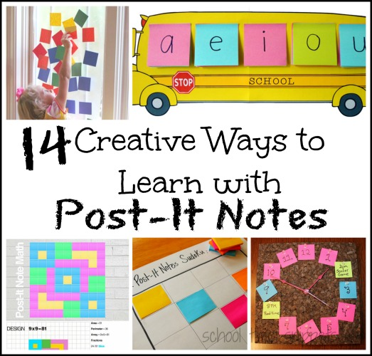 post it notes learning activities