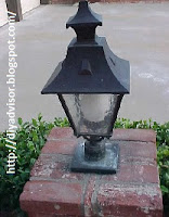 This is one of the patio lamps that need cleaning