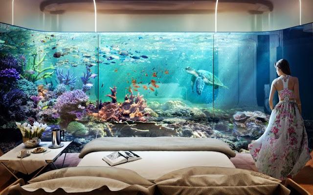 """Nội thất phòng ngủ biệt thự """"nửa nổi nửa chìm"""" ở Dubai"""