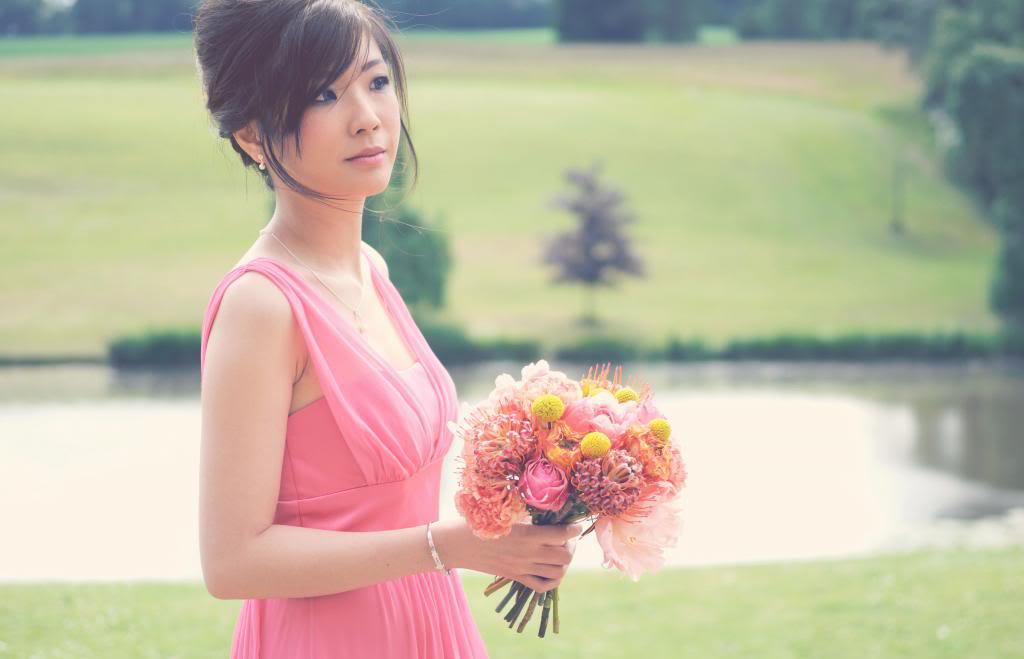 coral pink bridesmaids dress