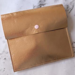 handmade rose gold fabric paper folder