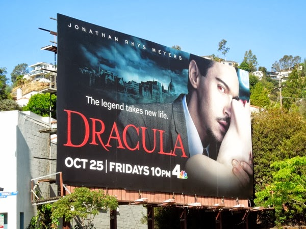 Dracula series premiere NBC billboard