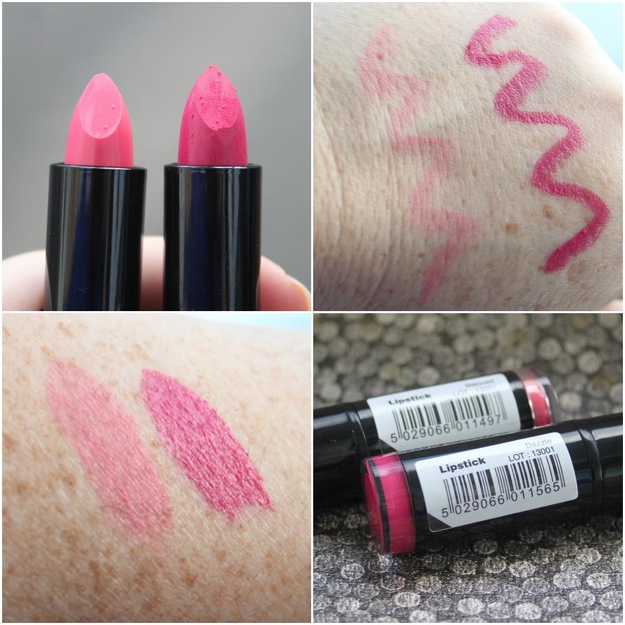 Makeup Revolution £1 lipstick swatches in Beloved & Dazzle