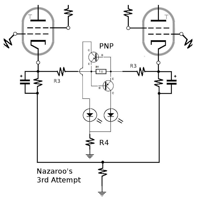 a simple pushpull balance led indicator