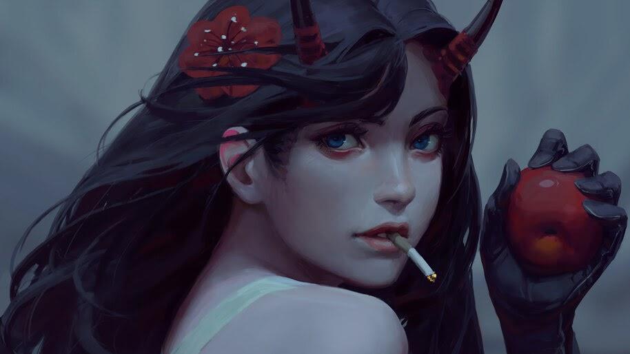 Fantasy, Girl, Smoking, 4K, #4.64