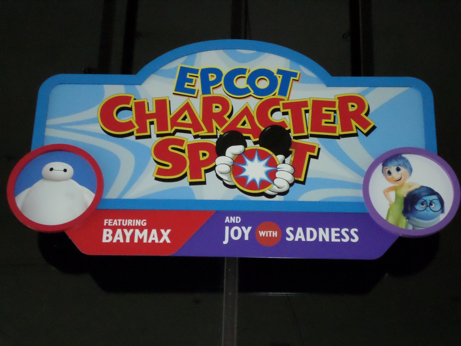 Williams Family Epcot Character Spot Baymax Joy And Sadness