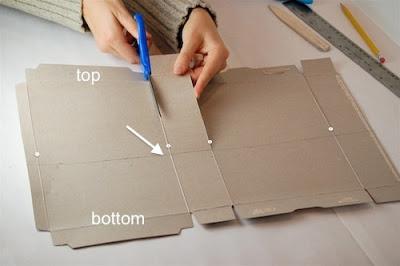 Recorta las zonas necesarias para formar la caja.