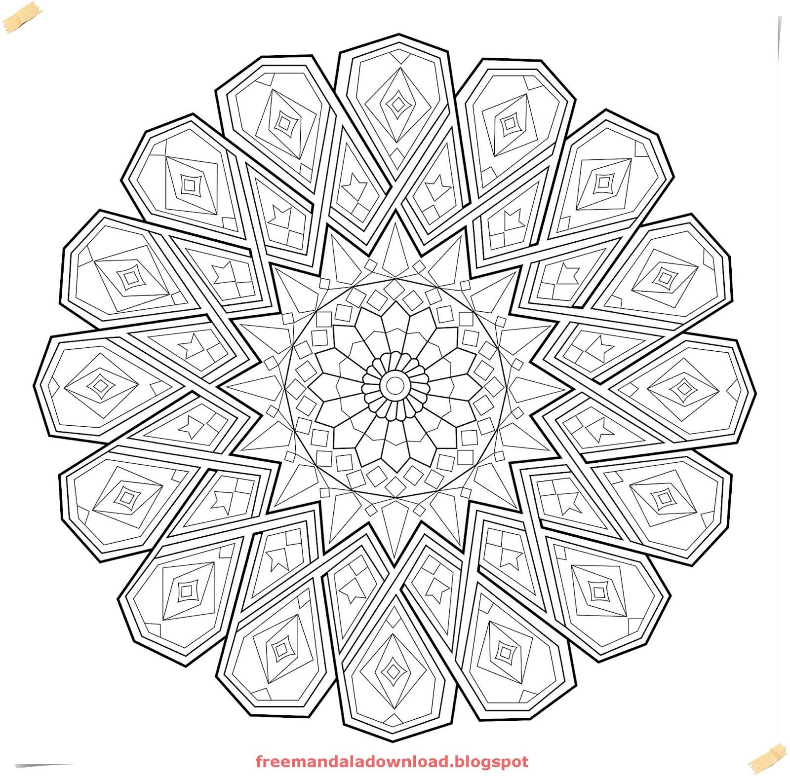 Luxe Schwierige Mandalas Zum Ausmalen Für Erwachsene Zum Ausdrucken ...